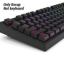 Pour clavier mécanique, Double prise de vue Miami, PBT 104/108, brillant latéral, translucide, rétroéclairé, noir et blanc