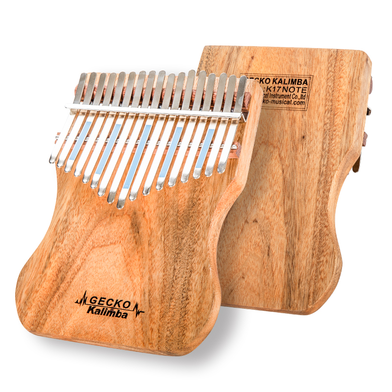 GECKO Kalimba 17 Keys Full veneer Camphor wood,with Instruction and Tune Hammer, Portable Thumb Piano Mbira Sanza K17CAP кроссовки ptpt ptpt pt001awbmrm2
