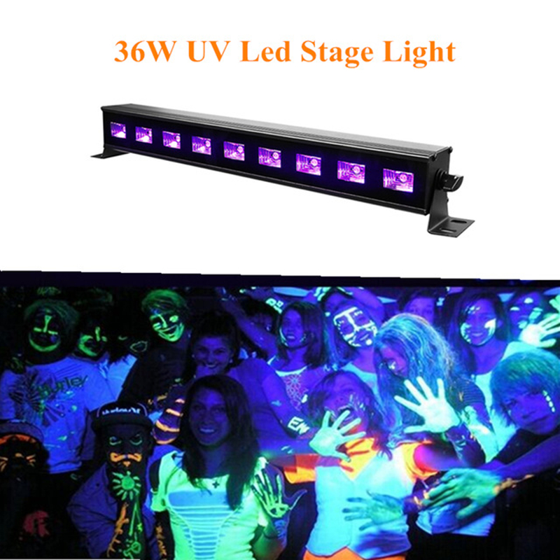 UV Violet LED Wall Washer Lamp Purple 9Leds 27W LED Bar Party Disco Club Light For Landscape Wash Wall Stage Light Effect Lights 9ledx3w uv wall washer led stage bar light for outdoor indoor decoration