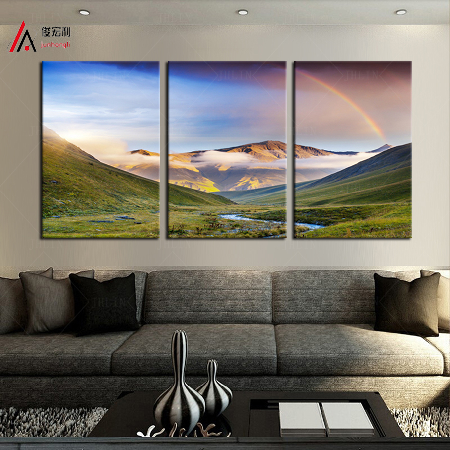 Online get cheap rainbow mountain alibaba group for Poster decoration murale