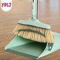 1 Набор  мягкая метла для уборки волос  комбинированная уборочная машина  метла  лопата для мусора  утолщенная Складная Вращающаяся щетка дл...