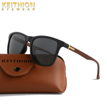 KEITHION Brand Design Polarized Sunglasses Men Square Frame Mirror Sun Glasses Outdoor Driving Fashion Uv400 Eyewear
