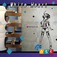 White Heart Puran Goddess Of Pain Car Sticker Super Dimensional Game Neptune Wall Stickers