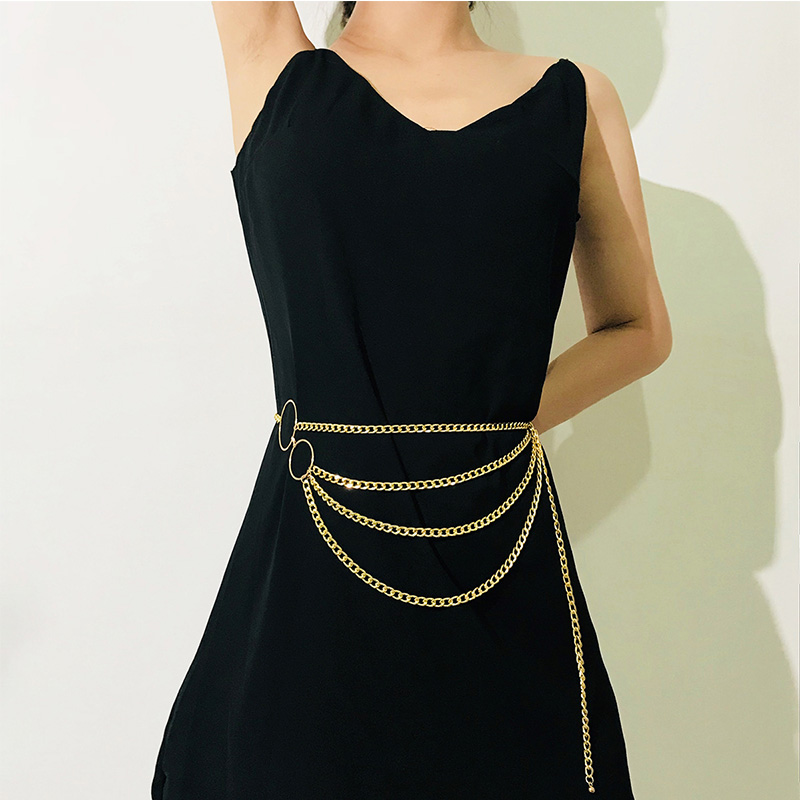 HTB1zQmLX3FY.1VjSZFnq6AFHXXa5 - BLA Luxury Women Chain Belts Waistbands All-match Waist Gold Silver Multilayer Long Tassel Chain Belts For Party Jewelry Dress 3