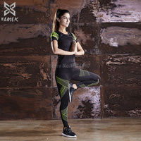 Sport Yoga Set Compression Yoga Pants Women Yoga Top 2 Piece Set Female Fitness Set Sportswear