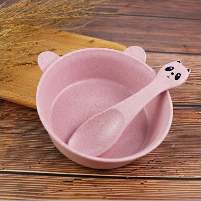 Panda Shaped Baby's Bowl with Spoon Set