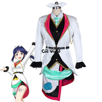Love Live Sunshine Aqours Kanan Matsuura Mirai Ticket Coat Shirt Vest Apron Pants Uniform Outfit Anime Cosplay Costumes
