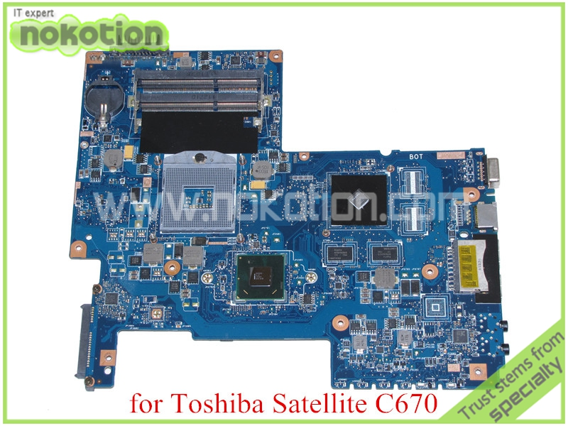 NOKOTION H000033490 For toshiba satellite C670 laptop motherboard HM65 DDR3 Nvidia graphics PN 08N1-0NA1Q00 REV 2.1 nokotion for toshiba satellite laptop motherboard c600 v000238100 6050a2448001 mb a01 hm65 gt315m ddr3