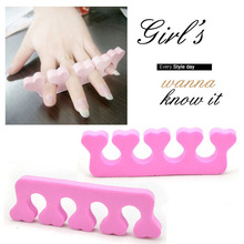 Nail Art Soft Finger Cotton Toe Separator Pedicure ManicureTool /Cotton point s points finger means Finger toe Extension Tools