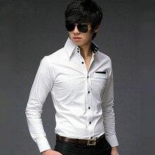 ff83ecd05d Marca de lujo para hombre urbano Moda 2015 camisa casual de alta calidad  China importó ropa slim fit estilo coreano hombres blus.