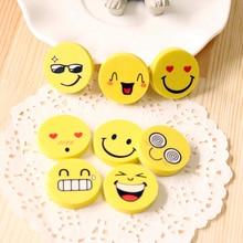Cartoon Smiley Face Eraser Kawaii Kid School Stationery Supplies Correction Supplies Boy Cute Facial Toy Eraser Girl Prizes Gift