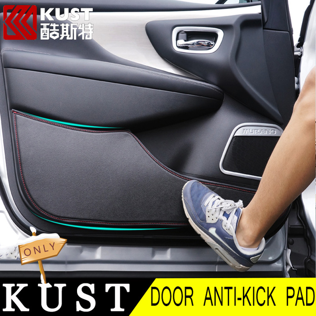Kust Leather Car Door Protective Anti Kick Pad For Nissan For Murano
