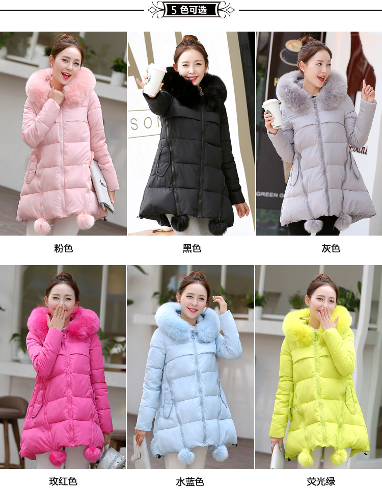 Thicker maternity winter coat jacket long   winter cotton-padded jacket female Korean loose large size down jacket M-XXXL цены онлайн