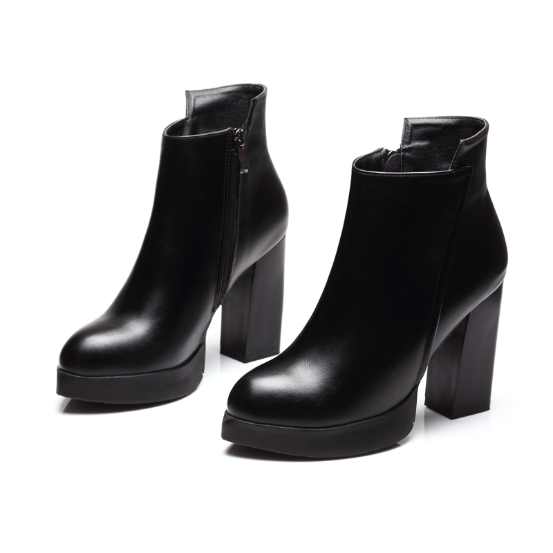New 2017 Attractive Girls Boots Style Platform Sq. Excessive Heels Black Ankle Boots Lady Model Design Women Leather-based Footwear CH-B0011 black ankle boots ladies, boots model, boots designer,Low-cost black...