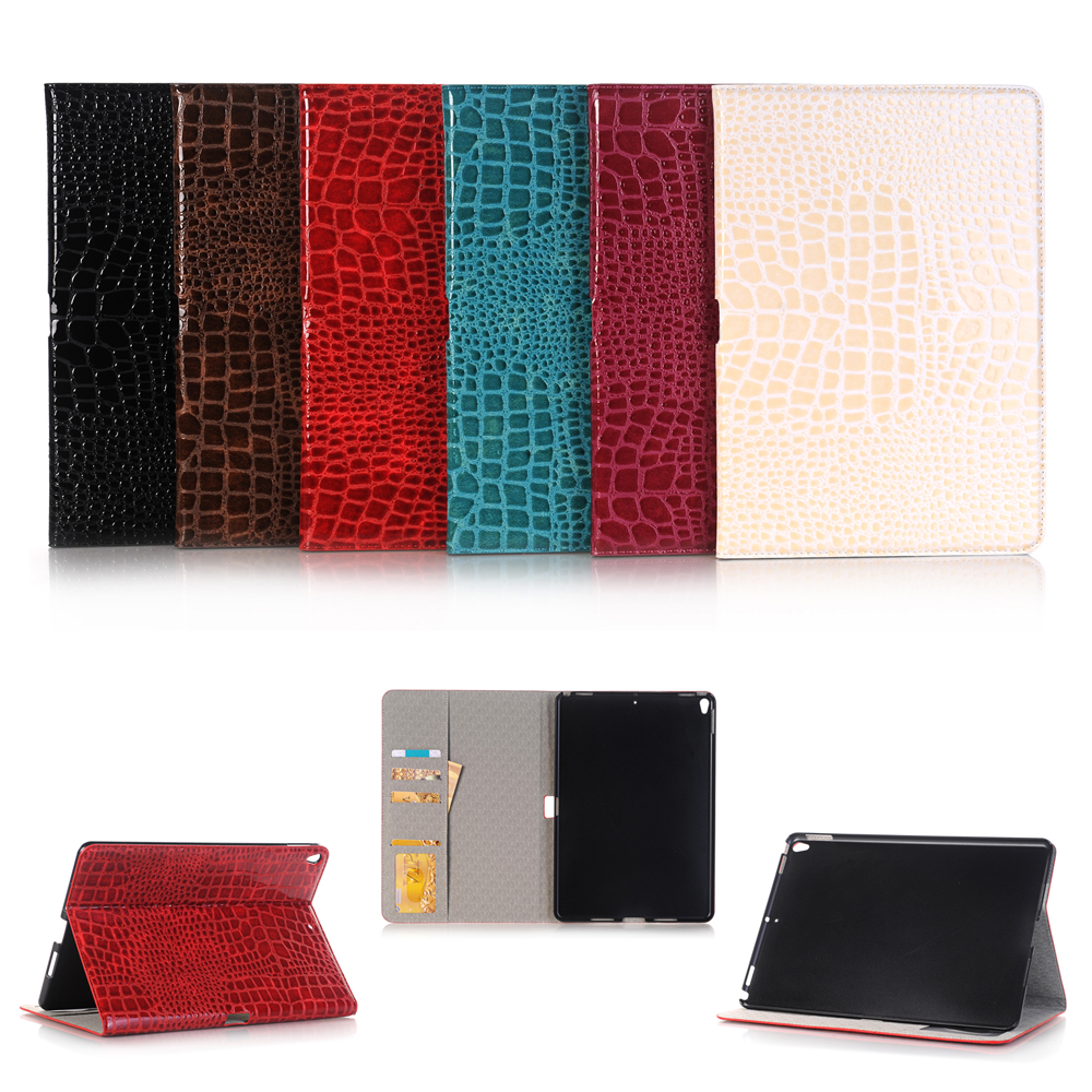 New 2017 Luxury High quality crocodile leather case For iPad Pro 10.5 Smart case cover + Stylus + Film
