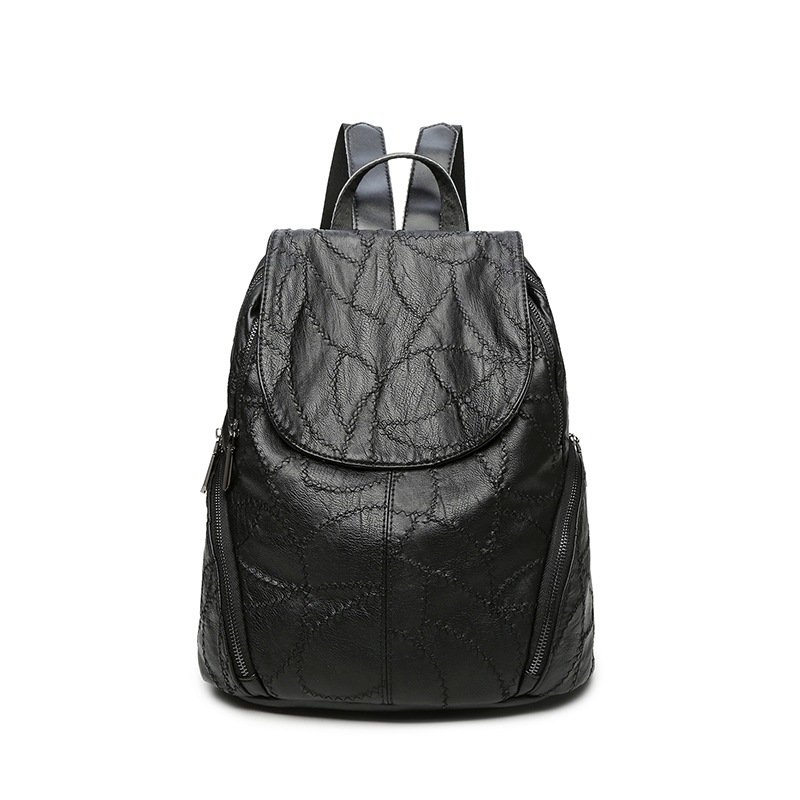 2017 Woman soft Genuine Leather Backpack vintage bag backpacks for teenage girls school bags casual bags