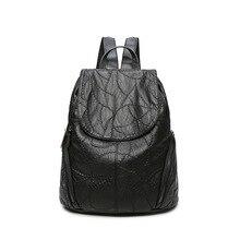 2017 Женщина мягкая Натуральная Кожа Рюкзак старинные мешок рюкзаки для девочек-подростков школьные сумки случайные сумки женские плеча C221