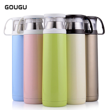 350ML 500ML Vacuum Flasks Thermoses Cup Stainless Steel Water Tea Bottle with Coffee Cup Thermal Thermos Bottle Outdoor 1PC
