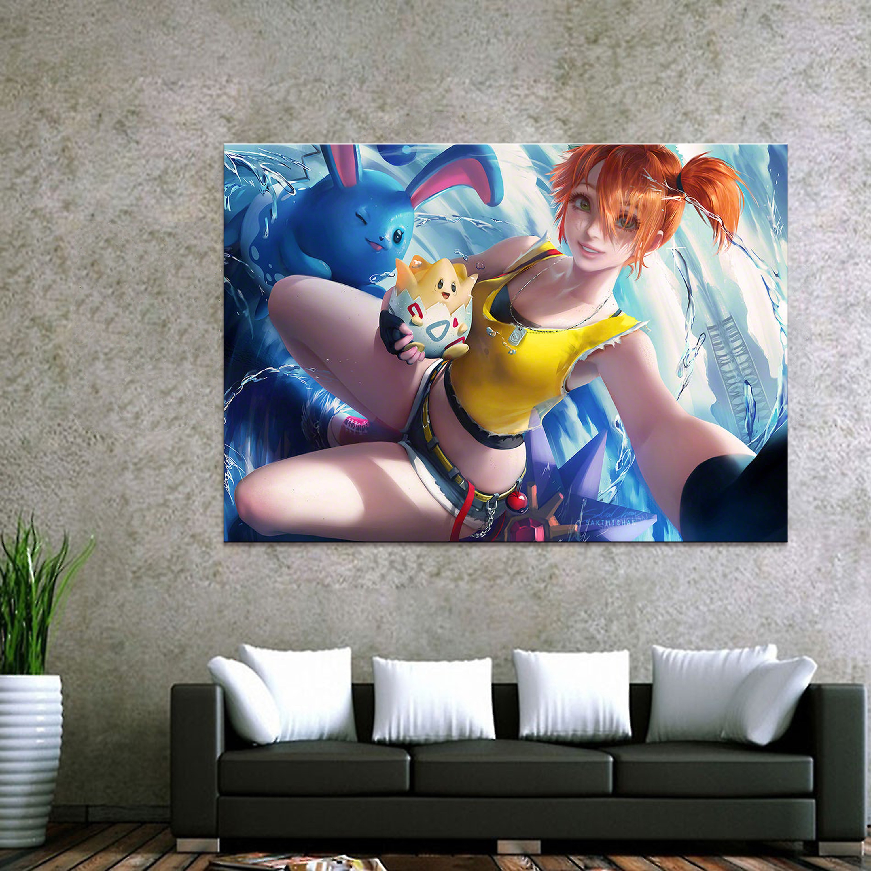 Home Decor Canvas Pokemon Game 1 Piece Anima'ti'o'n Sexy Girl Art Poster Prints Picture Wall Decoration Painting Wholesale 1