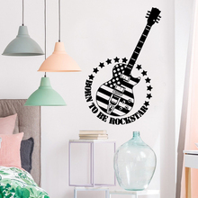 Retro guitar Wall Art Decal Decoration Fashion Sticker Living Room Children Removable Mural