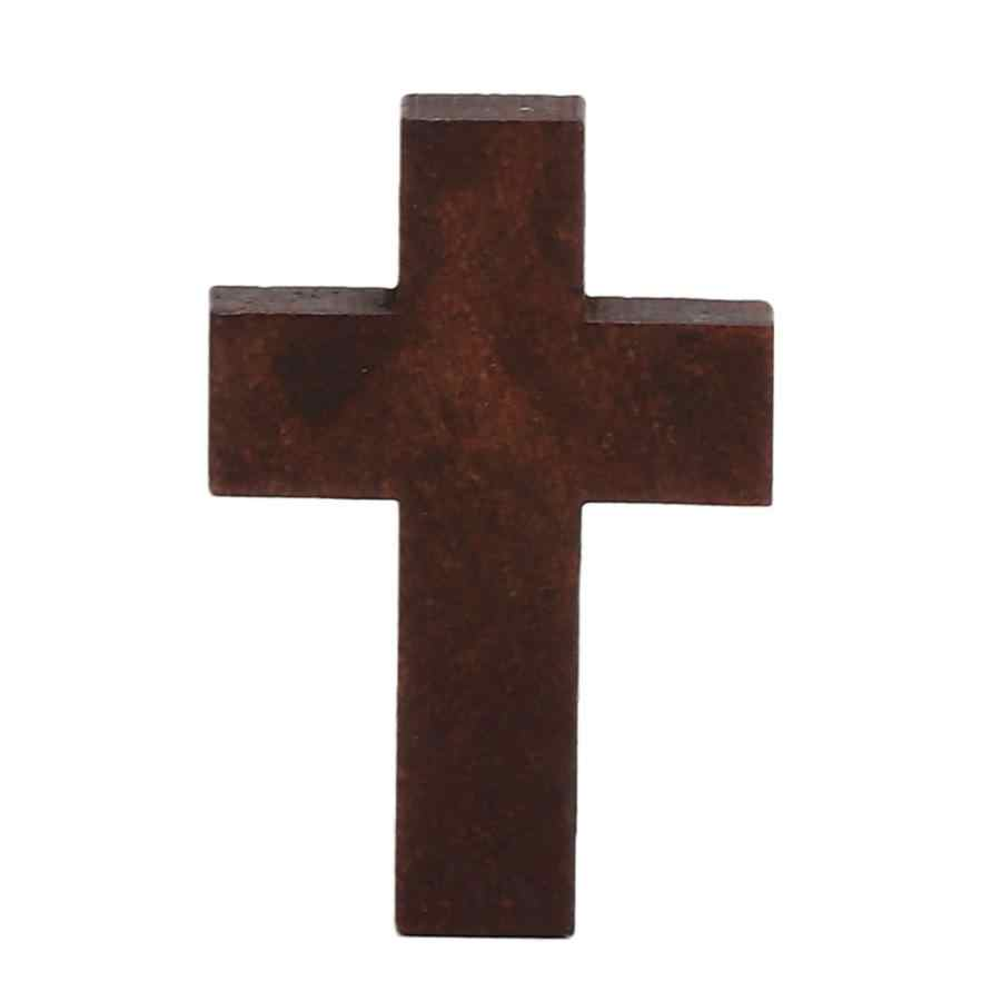 Pingente de cristal Pingente de Natal 20Pcs Acessório Para Colar de Pingente de Crucifixo De Madeira Pulseira Do Vintage Enfeites de Árvore de natal