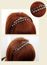 New Fashion Rhinestone & Imitation Pearl Wave Hair Band Headband Accessories Headwear-00628
