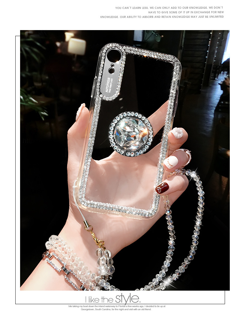 HTB1zQnhMSzqK1RjSZPcq6zTepXay Luxury Bling Glitter With Finger Ring Case For iPhone X 8 7 6 6S Plus XR XS 11 Pro Max Cover Fashion Diamond Soft TPU Phone Case
