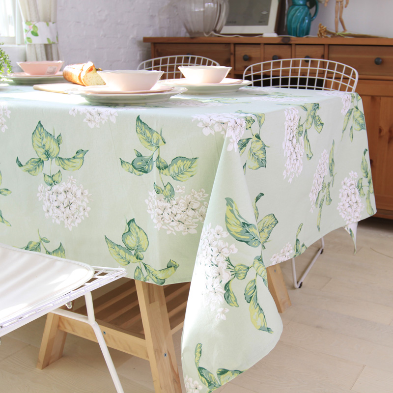 100 cottontable cloth tablecloth flower green printed - Manteles para mesa ...