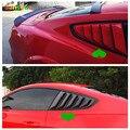 Sansour ABS боковая жалюзи Крышка черный праймер заднее окно жалюзи Оттенки для Ford Mustang 2015 2016 2017 автомобильные Стайлинг Аксессуары