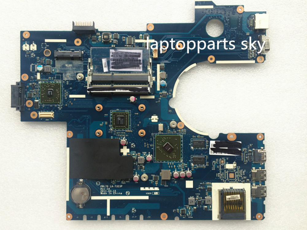 Original new laptop motherboard For ASUS PBL70 LA-7323P REV:1A with CPU fit for K73B X73B mainboard brand new ziwb2 ziwb3 ziwe1 la b092p rev 1 0 for lenovo b50 70 laptop motherboard mainboard
