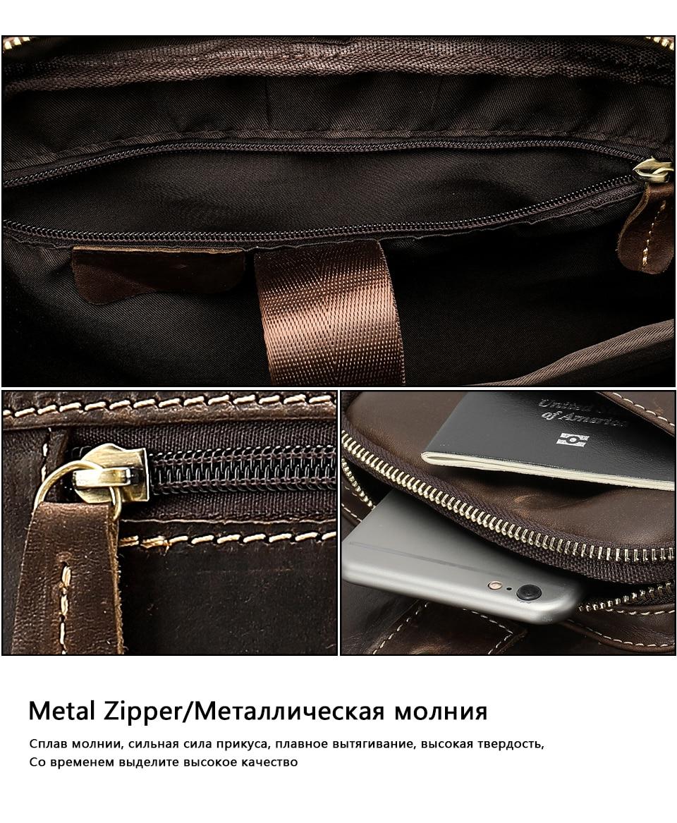 HTB1zQnpaEjrK1RkHFNRq6ySvpXaO WESTAL men's briefcase bag men's genuine Leather laptop bag office bags for men business porte document briefcase handbag 8503
