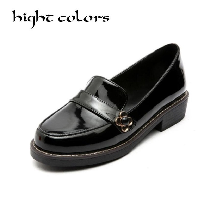 Sweet Bow Patent Women Slip-on Casual Flat Oxford Shoes Fashion Girls Casual Flat Shoes Round Toe Loafers Shoes Women Size 34-43 new round toe slip on women loafers fashion bow patent leather women flat shoes ladies casual flats big size 34 43 women oxfords