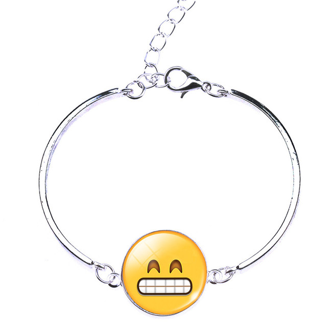 LIEBE ENGEL Silver Color Bracelet with Emoji