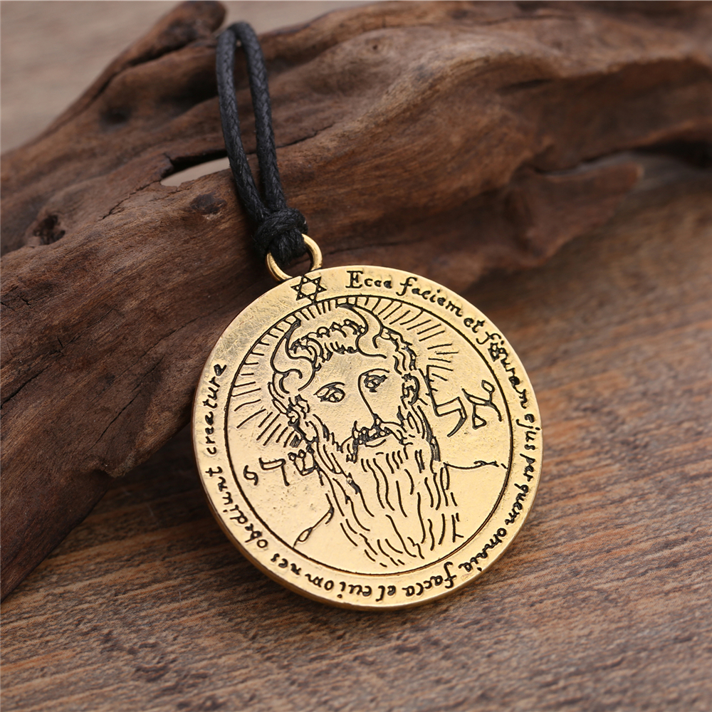 Lemegeton Talisman The First Pentacle of the <font><b>Sun</b></font> the Key of Solomon Men Necklaces Vintage Charm Talisman <font><b>Jewelry</b></font> Metatron image