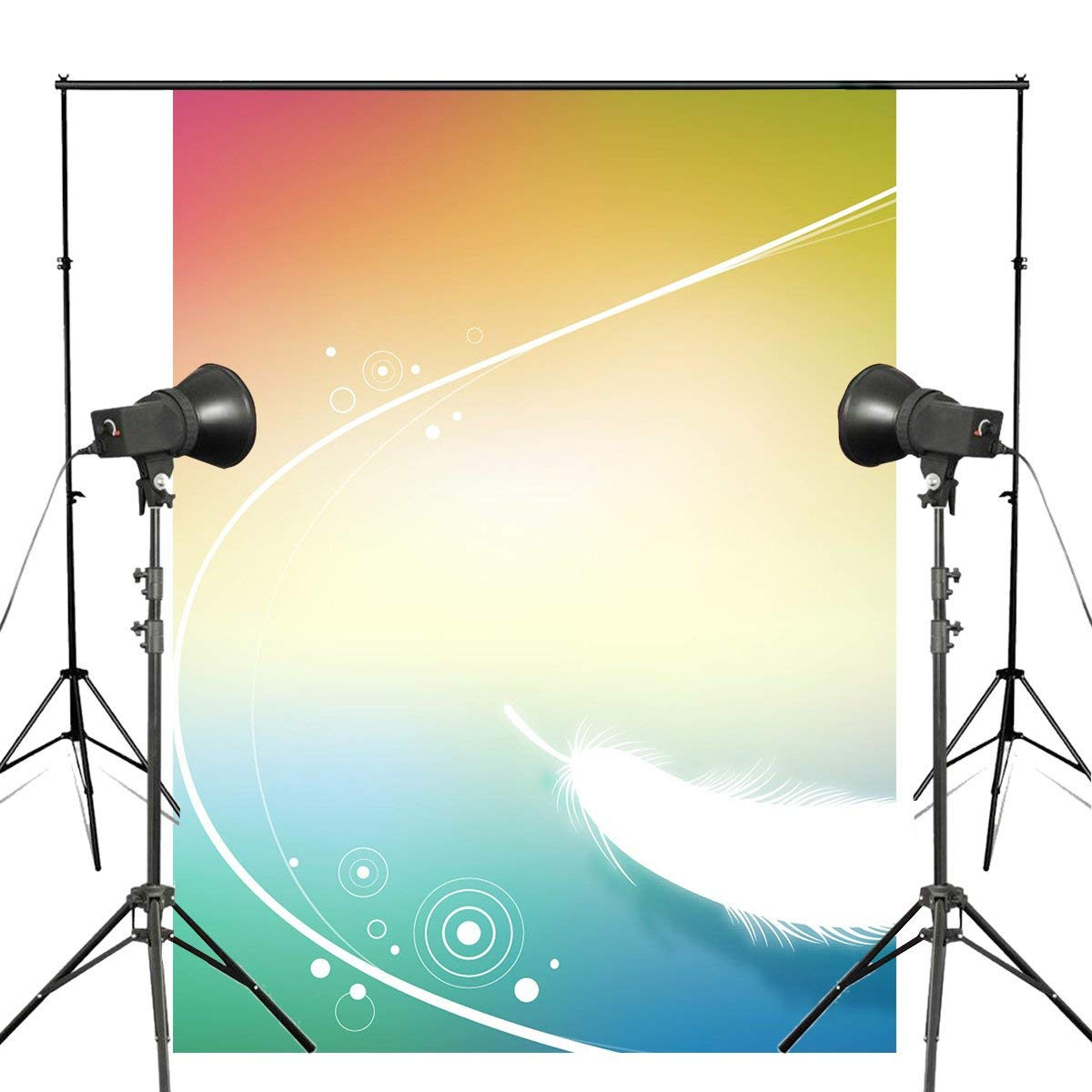 Exquisite Fluffy White Feather Background Photography Colorful Backdrops for Picture Kids Photo Studio Background 5x7ft-in Photo Studio Accessories from Consumer Electronics