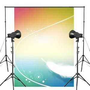 Image 1 - Exquisite Fluffy White Feather Background Photography Colorful Backdrops for Picture Kids Photo Studio Background 5x7ft