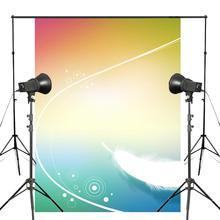 Exquisito fondo de pluma blanca mullida fotografía fondos coloridos para foto de niños estudio de fondo 5x7ft