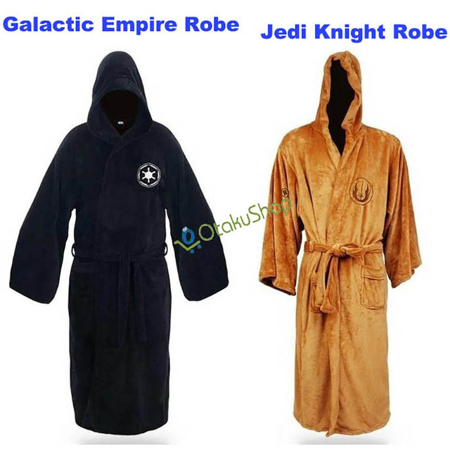 9149d73b45 Star Wars Jedi Knight Bathrobe Darth Vader Coral Fleece Bath Robe Adult  Albornoz Carnival Cosplay Costume mens sleepwear robes