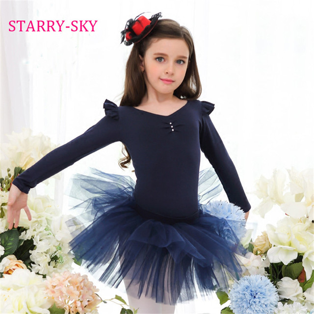 13602ae30 New Kids Girls Long Sleeve Ballet Tutu Gymnastics Bodysuit Dance ...
