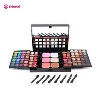 Skineat 78 Color Professional Makeup Palette Cosmetic Set Eyeshadow Blush Lip Gloss Matte Shimmer Maquiagem Kit
