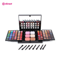 Skineat 78 Color Professional Makeup Palette Cosmetic Set Eyeshadow Blush Lip Gloss Matte Shimmer Maquiagem Kit
