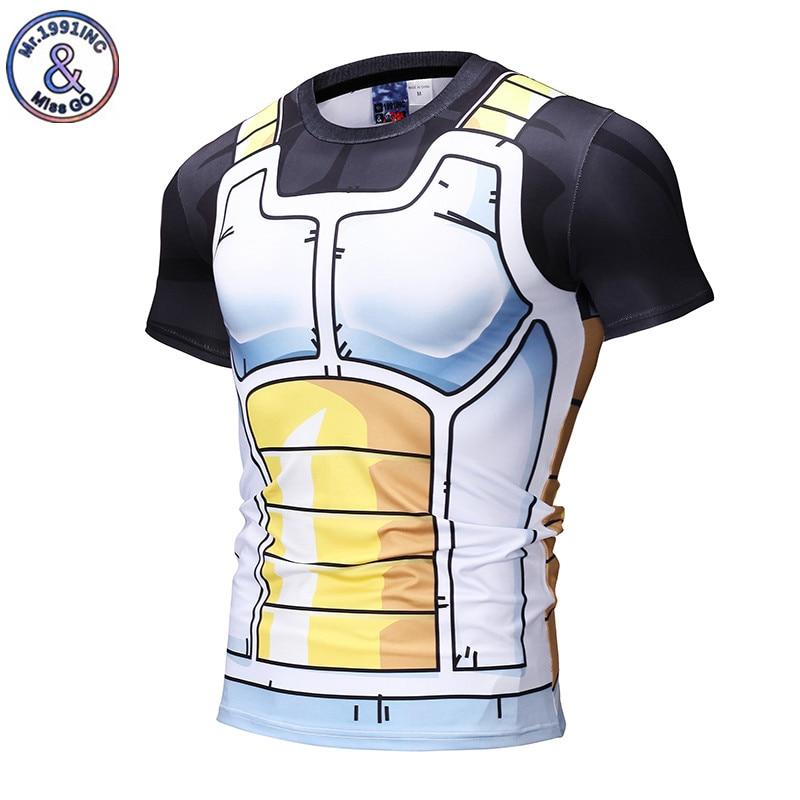 Mr.1991INC Dragon Ball T Shirt 3D Men Tshirt Anime T-shirt Compression Tops Print Vegeta Super Saiyan Camiseta 3XL Dropshipping