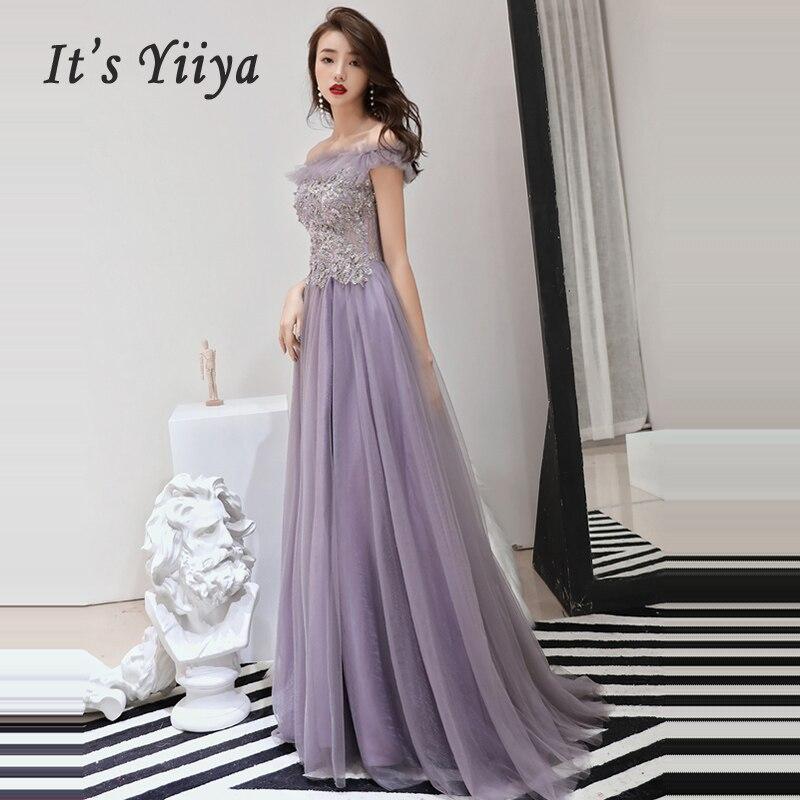 Evening Dresses Sexy Backless Slim 2019 Boat Neck  Prom Dresses Long Plus Size Women Party Dress Sleeveless Robe De Soiree E531