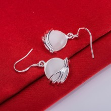 Silver Plated earrings , Silver Plated fashion jewelry , stone bright /cecakvja dvkammra LQ-E027(China)