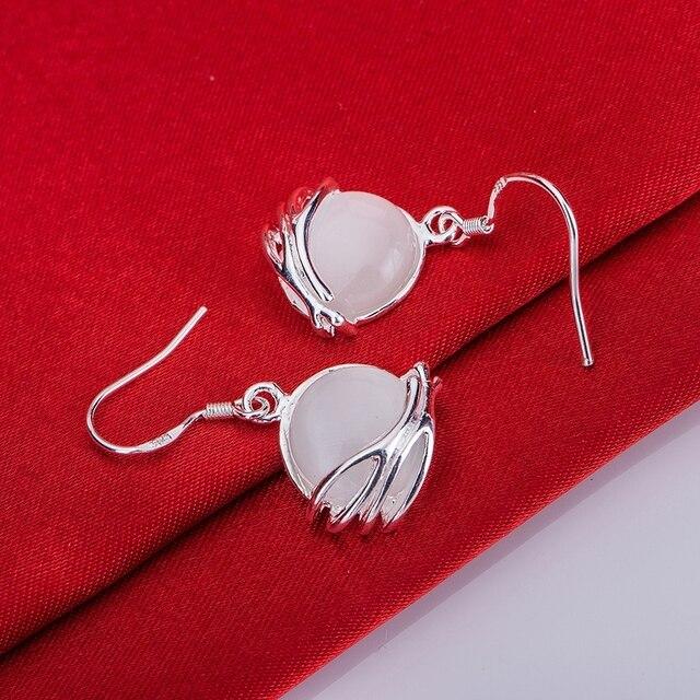 925 sterling silver earrings , 925 silver fashion jewelry , stone bright  /cecakvja dvkammra LQ-E027