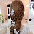 Amanti cocar de casamento da noiva hairpin hairpin grampo de cabelo flores de cabelo noiva se casou com jóia da pérola