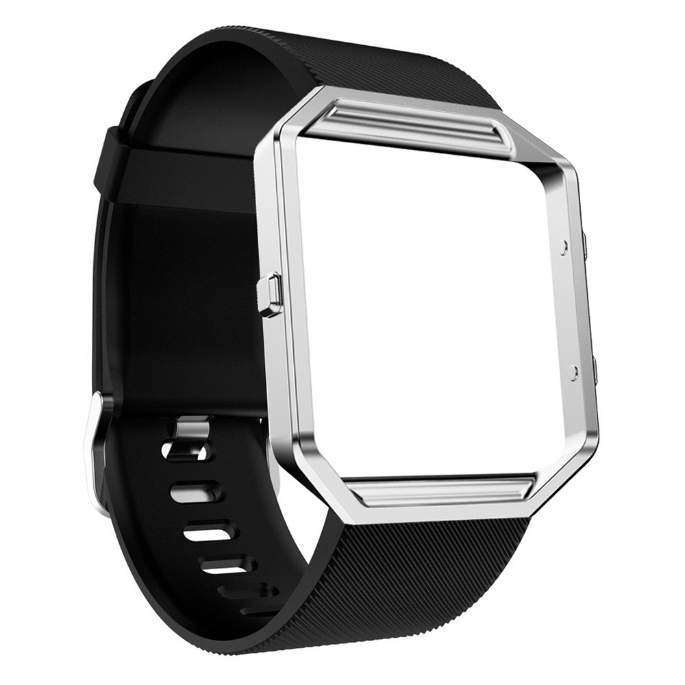 Kimisohand Fashion Brand Design Quality Soft Silicone Watch Band Wrist strap + Metal Frame For Fitbit Blaze Watch цена и фото
