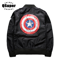 QSuper Fashion Luxury Pattern American Captain Polyester Jacket Lover Slim Fit Baseball Jacket Hip Hop Bomber