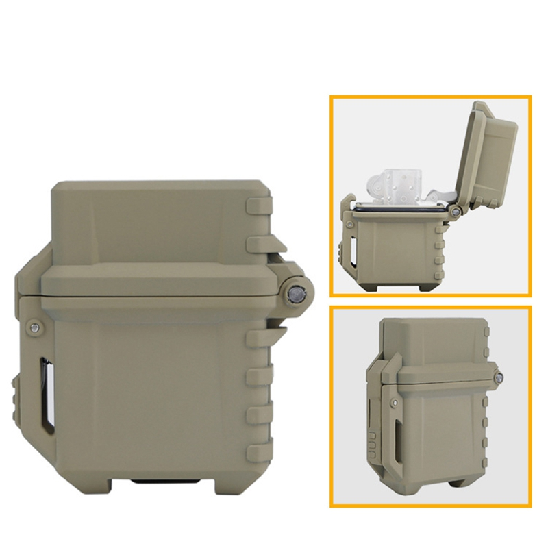 Tactical Lighter Storage Case Universal Portable Box Container Lighter Storage Box Camping Hiking Outdoor Tools