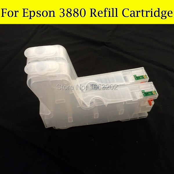 9 Pieces/Lot Empty Ink Cartridge For Epson 3880 Replacement Cartridges T580 T5801 With Chip Sensor AND Resetter free shipping 3880 ink cartridge for epson t5801 t5809 t5802 t5803 t580 with chip sensor comepatible eps printer 3880
